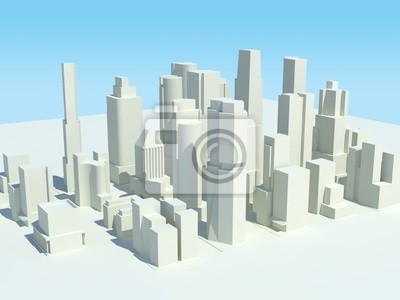 Canvas print Cityscape 3