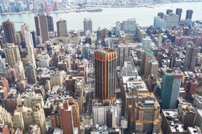 Canvas print Cityscape view of Manhattan