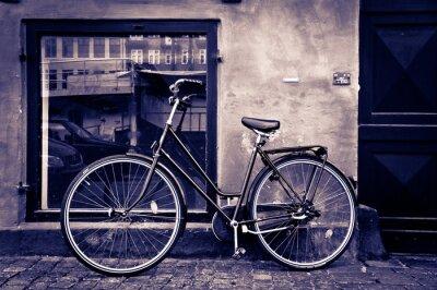 Canvas print Classic vintage retro city bicycle in Copenhagen, Denmark