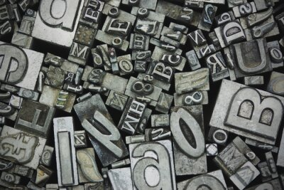 Canvas print Close up of typeset letters