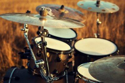 Canvas print Close up thin crash on a drum set