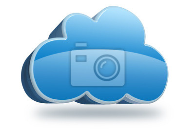 Canvas print cloud 3D