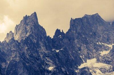Canvas print Cloudy Alp Mountains