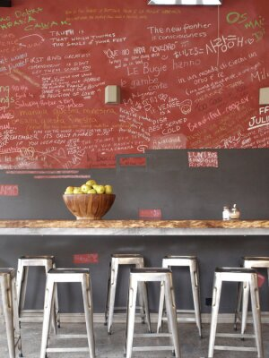 Canvas print Coffee shop