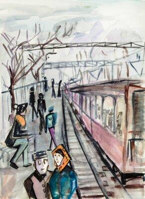 Canvas print Cold autumn day