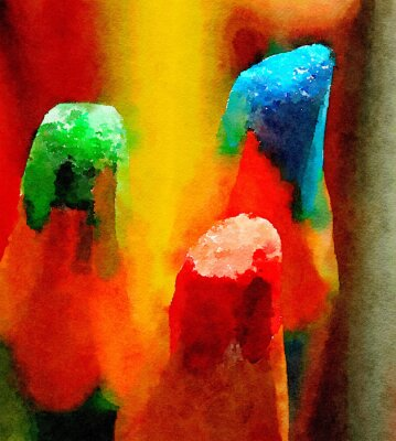 Canvas print Colored pencils