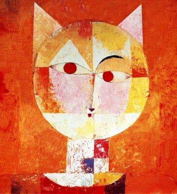 Canvas print Colored Portrait of a Cat