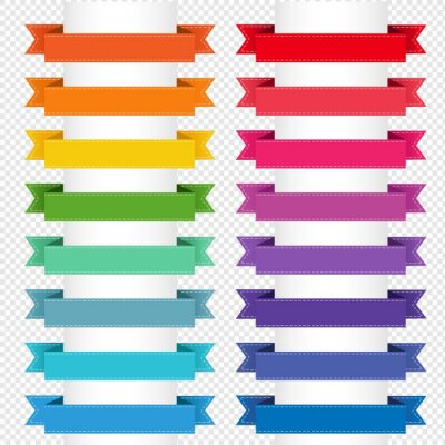 Colorful Big Collection Isolated Transparent Background, Vector Illustration