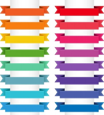 Colorful Big Collection Isolated White Background, Vector Illustration