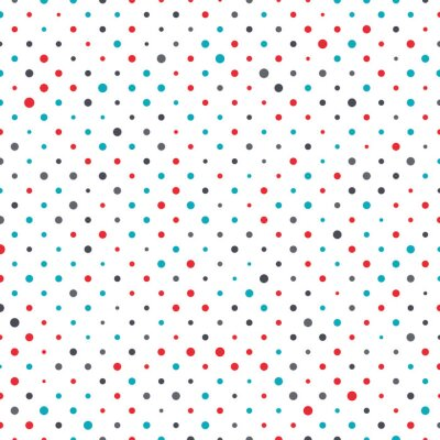 Canvas print Colorful dot background