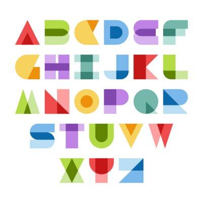 Canvas print Colorful font