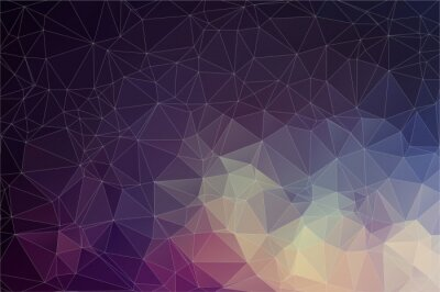 Canvas print Colorful geometric background with triangles