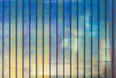 Canvas print Colorful office wall made of glass, background