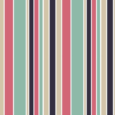 Canvas print colorful vertical stripes seamless vector pattern background illustration