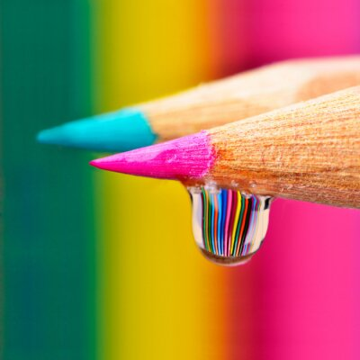 Canvas print Colors explosion on a drop