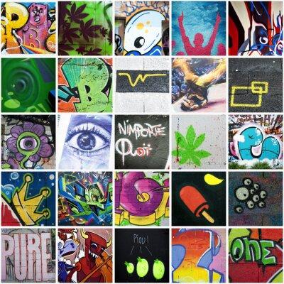 Canvas print Composition graffiti art urbain