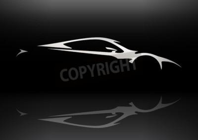 Canvas print Concept Sportscar Vehicle Silhouette 06