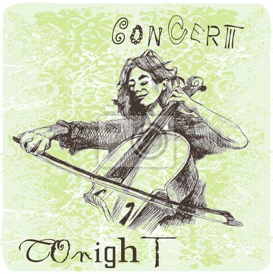 concert - girl with cello