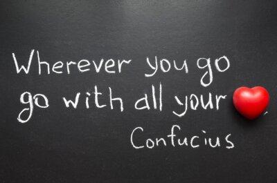 Canvas print Confucius quote