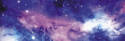Canvas print Cosmos banner with stars