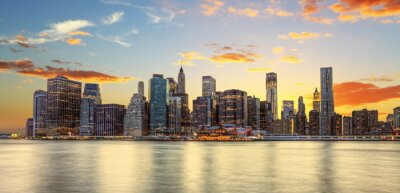 Canvas print Crépuscule à Manhattan, New York.