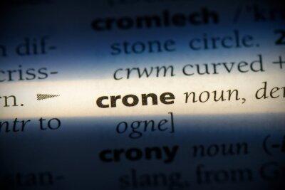 Canvas print crone
