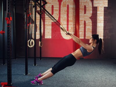 Canvas print Crossfit workout on ring