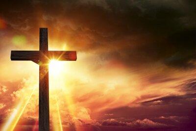 Canvas print Crucifix Blessing Lights