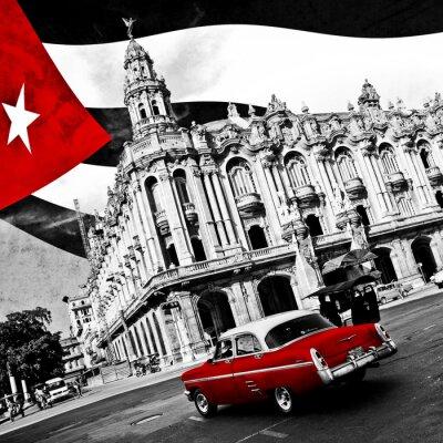 Canvas print Cuba (n&b)