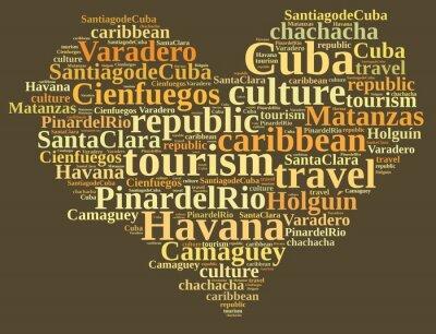 Canvas print Cuba tourism.