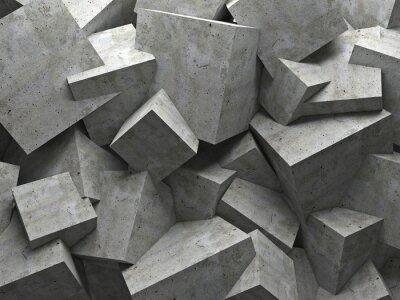 Canvas print cubes wall