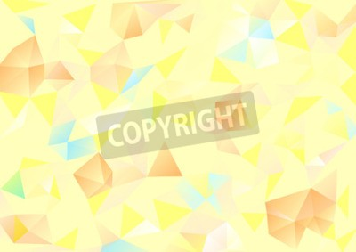 Canvas print Cubism background Pale yellow and orange blue
