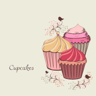 Canvas print cupcake design