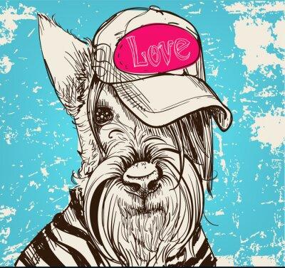 Canvas print cute portrait of a Scottish Terrier