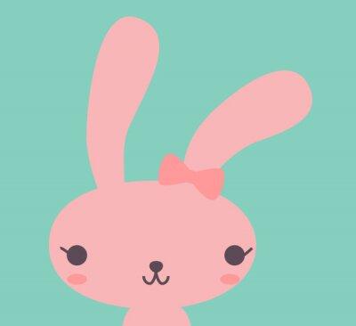 Canvas print Cute Rabbit - Vector File EPS10