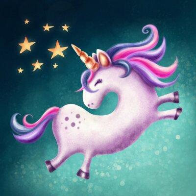 Canvas print Cute unicorn