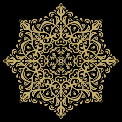 Canvas print Damask Oriental Pattern