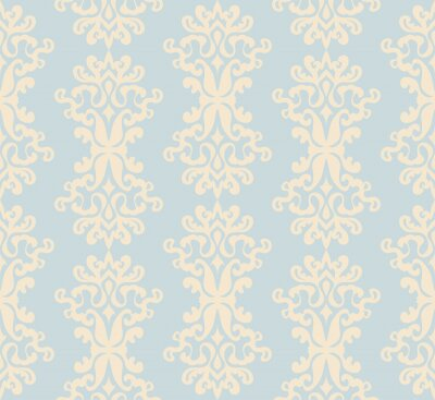 Canvas print Damask  seamless pattern
