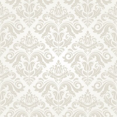 Canvas print Damask Seamless Pattern. Abstract Background