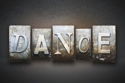 Canvas print Dance Letterpress