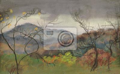 Canvas print Danger of a rain