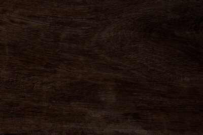 Canvas print Dark brown wood and uneven surfaces for texture and copy space in background