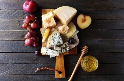 Canvas print dark cheese composition