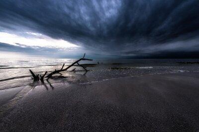 Canvas print Dark Clouds over the Ocean
