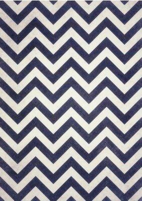 Canvas print dark navy blue and black chevrons texture on old white distressed background design, dark zigzag pattern, groovy vintage background