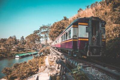 Canvas print Death Railway in Kanchanaburi, Thailand
