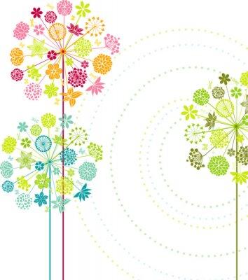 Canvas print Decorative dandelions I