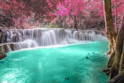Canvas print Deep forest Waterfall in Kanchanaburi