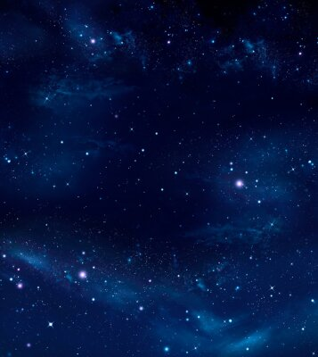 Canvas print deep space, abstract blue background