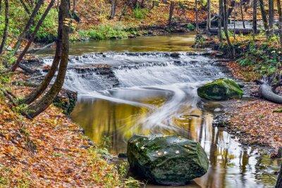 Canvas print Deer Lick Creek Waterfall